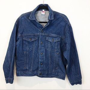 Riot Make A Joyful Nosie Denim Jacket Sz 16